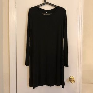 **NWT** Black Long Sleeve TShirt Dress